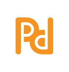 Initial letter logo logotype art theme vector