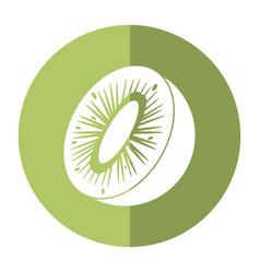 kiwi tropical fruit icon shadow vector image