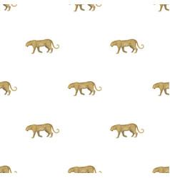 leopardafrican safari single icon in cartoon vector image