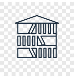 library concept linear icon isolated on vector image