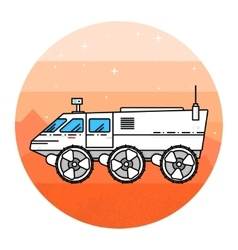 Mars rover on the white background vector