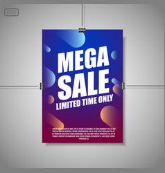 Mega sale background vector