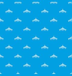 Millau viaduct bridge pattern seamless blue vector