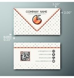 Modern simple vintage business card template with vector image