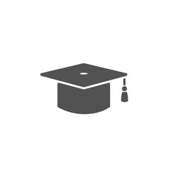 mortarboard icon on a white background vector image
