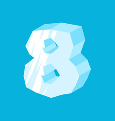 Number 8 ice icicles font eight frozen alphabet vector