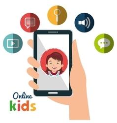 online kids design vector image