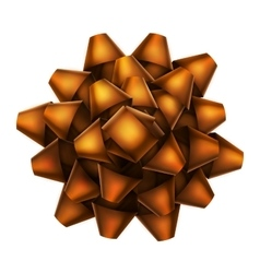 Orange bow top view EPS 10 vector image