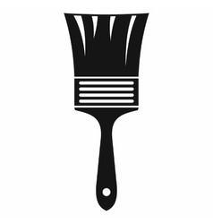 Paint brush icon simple style vector