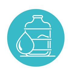 plastic bottle and water drop nature liquid blue vector image