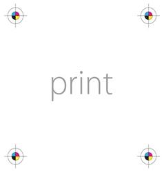 Print icon cmyk vector