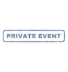Private event textile stamp vector
