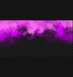 realistic purple colorful smoke clouds mist vector image