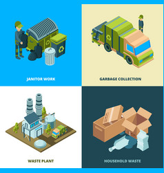 recycle food concept waste removal from city vector image
