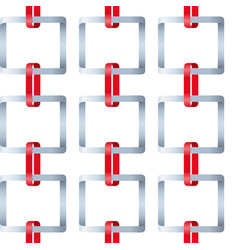 red and gray ribbon square link awareness symbols vector image