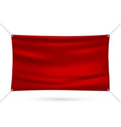 red mock up vinyl banner vector image