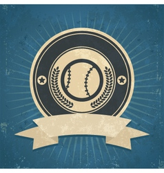 Retro Baseball Emblem vector