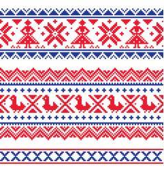 Sami band or belrd design lapland folk art vector