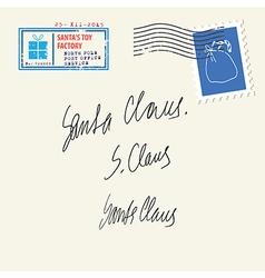 Santa Claus autograph vector image