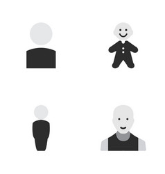 set of simple profile icons elements man avatar vector image