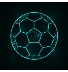 Soccer ball silhouette of lights vector