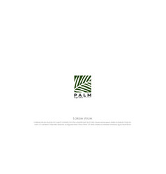 square coconut palm date leaf leaves nature vector image