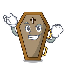 Successful coffin character cartoon style vector