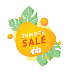 summer sale banner template summer abstract vector image