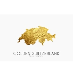 Switzerland map Golden Switzerland logo Creative vector image