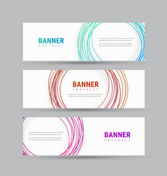 Template of a white banner with abstract circles vector