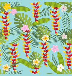 tropical seamless pattern 3 vector image