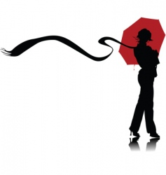 Umbrella and scarf vector