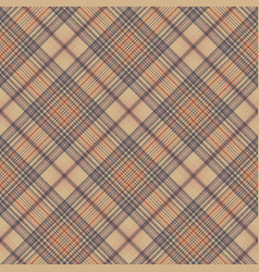 Vintage check fabric texture plaid seamless vector