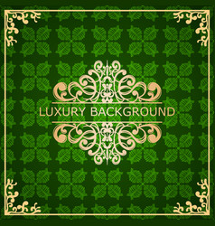 vintage ornamental background vector image