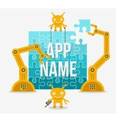Building app or site from idea to realization vector image vector image