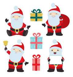 collection of christmas santa claus 1 vector image vector image
