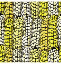 Corn seamless food background isolated cob plant vector image