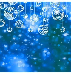 Elegant blue christmas background EPS 8 vector image vector image