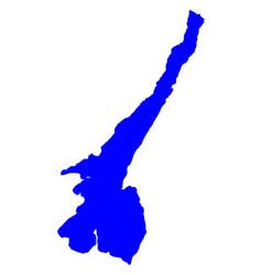 map of lake garda vector image vector image