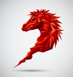 Red Geometric horse vector image