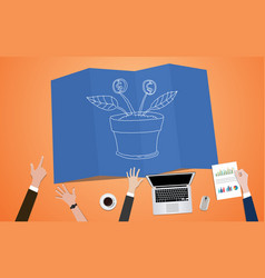 Return on investment plan concept vector