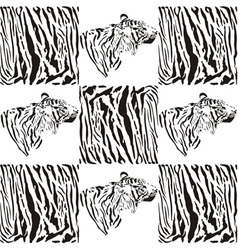 Tiger patterns for textiles and wallpaper vector image vector image