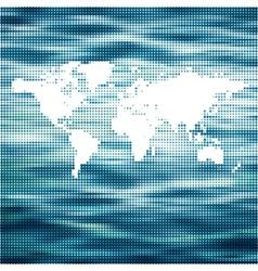 world Ocean map concept vector image