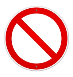 Blank Forbidden Sign vector image vector image
