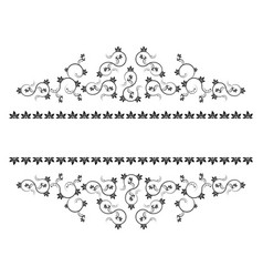frame with monograms for design and decorate vector image vector image