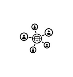 global contacts icon flat design vector image