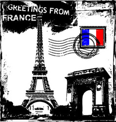 greetings from france vector image