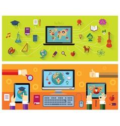 Online education Modern technology vector image vector image