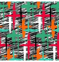 Pattern with stripes and crosses vector image vector image