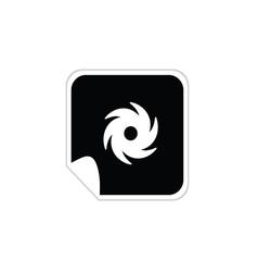 wind icon vector image vector image